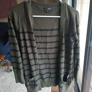 Green stripe cardigan